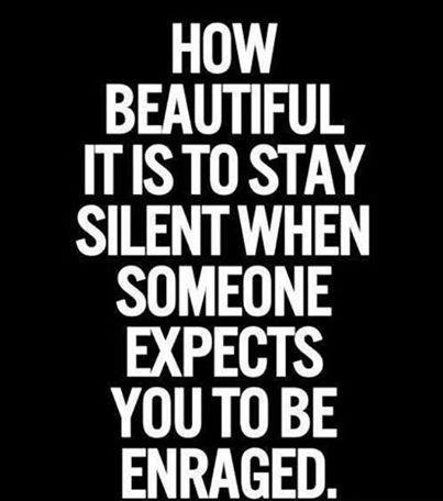 silence is beauty